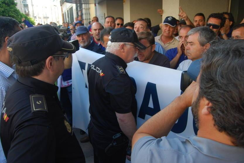 Nueva protesta de la plantilla de Navantia San Fernando
