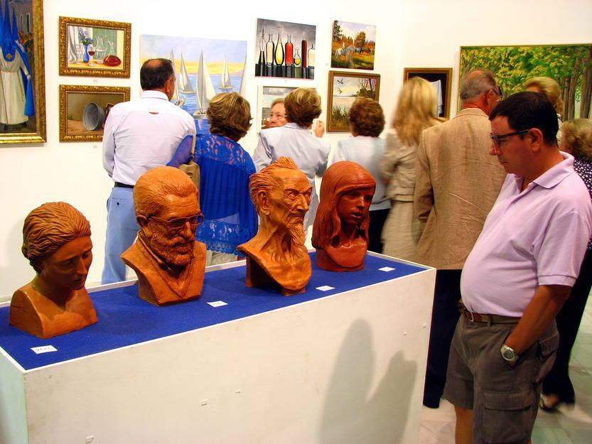 Muestra de escultura de los alumnos de la Academia Santa Cecilia en El Puerto