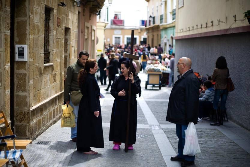 Procesión de La Palma en la Semana de Santa de Cádiz 2012