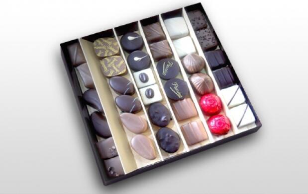 Caja de 36 bombones surtidos artesanales