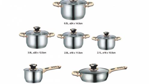 Batería cocina profesional 12 piezas Houseware