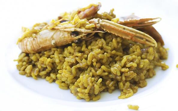Menú de arroz marinero para dos