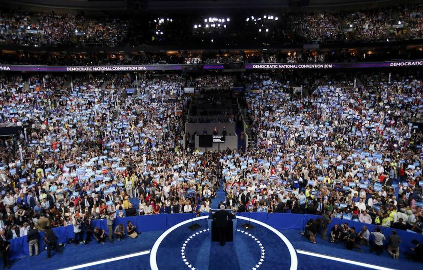 Las imágenes que nos deja la primera jornada de la convención del Partido Demócrata