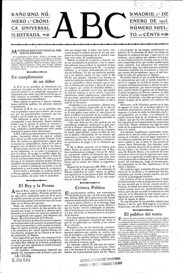 Las portadas históricas de ABC