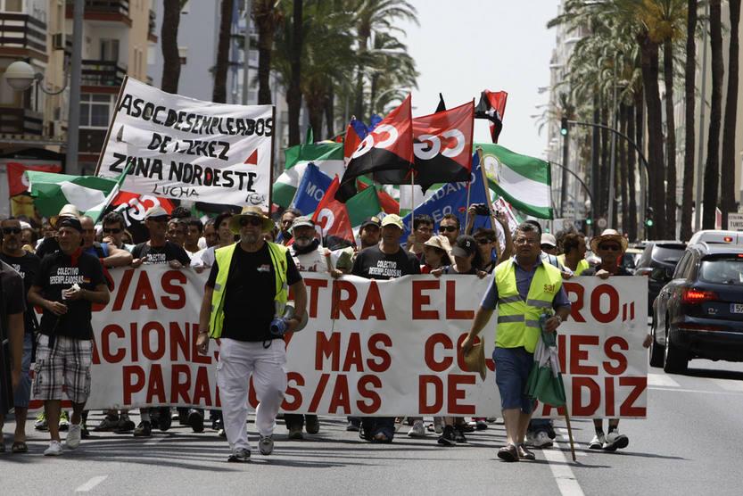 La marcha por el empleo recorre la provincia