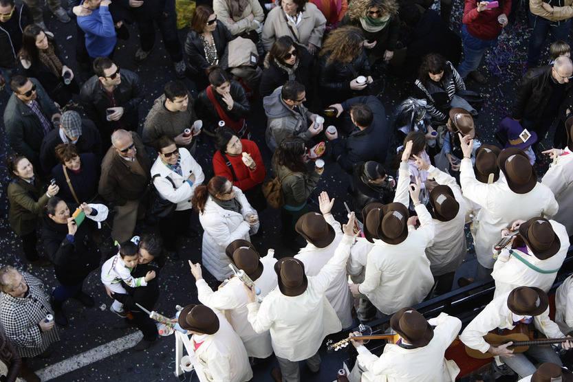 El carrusel de coros en Segunda Aguada. Carnaval de Cádiz 2013