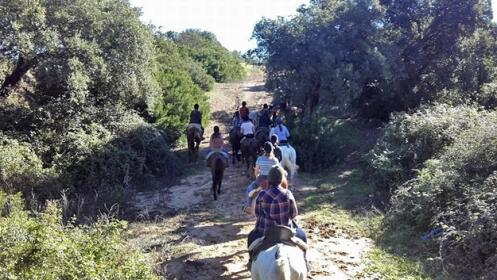 Paseo a caballo en familia por La Suara