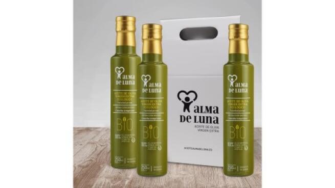 3 Botellas AOVE ecológico cosecha temprana 250ml, estuche acabado en seda