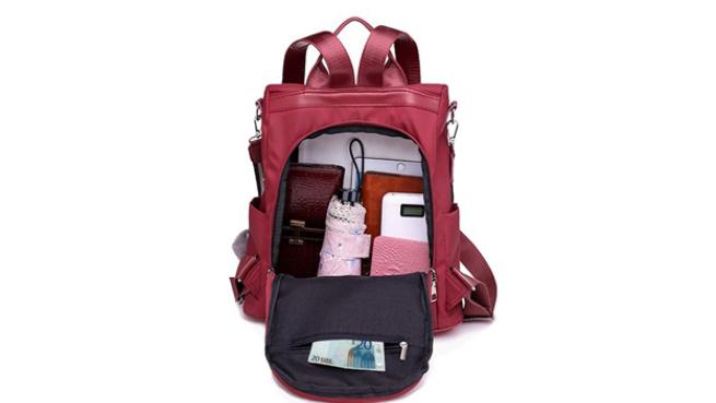 Bolso mochila antirrobo e impermeable