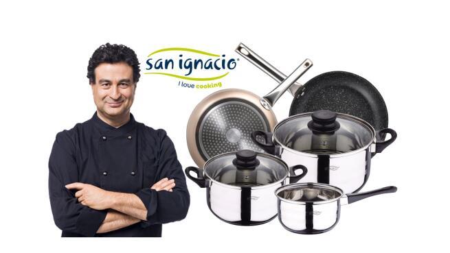 Batería de cocina 5 piezas + 2 Sartenes San Ignacio