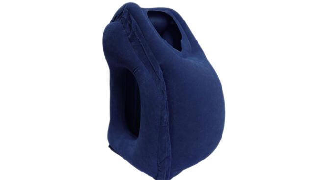 Almohada de viaje inflable con soporte