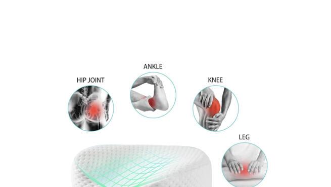 Cojín-Almohada de algodón visco para piernas